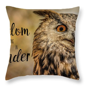 Wisdom Begins In Wonder Throw Pillow