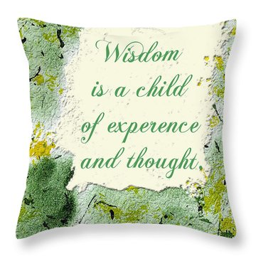 Throw Pillow featuring the painting Wisdom by Belinda Landtroop