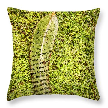 Wisdom In Nature Throw Pillow