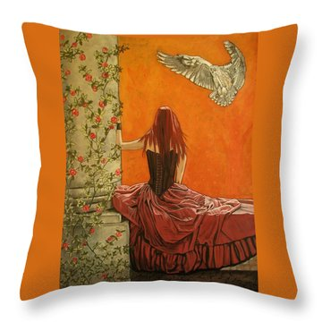 Wisdom Throw Pillow by Melita Safran
