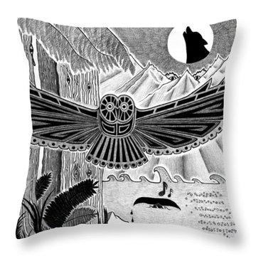 Wisdom Of The Ancestors  Throw Pillow