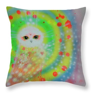 Wisdom Of  The Owl  Throw Pillow