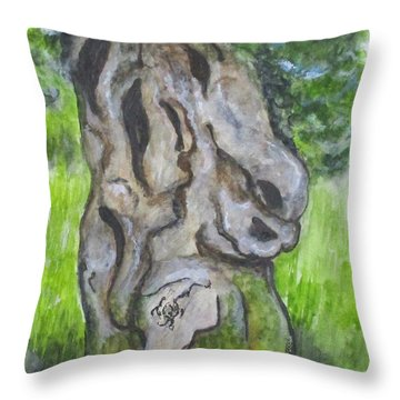 Wisdom Olive Tree Throw Pillow