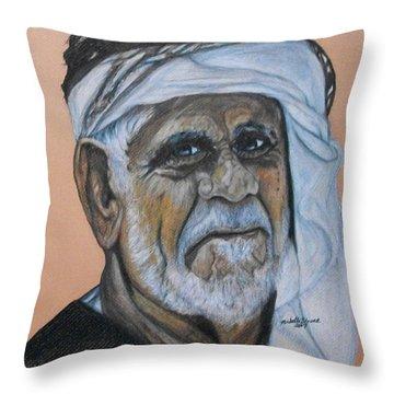 Wisdom Portrait Throw Pillow