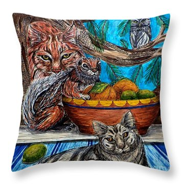 Wisdom Would Say Throw Pillow