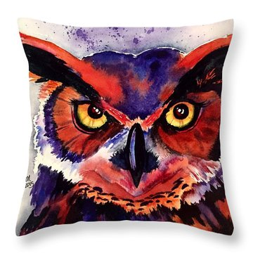 Throw Pillow featuring the painting Wisdom's Strength by Michal Madison