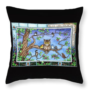 Wise Guys Throw Pillow by Retta Stephenson