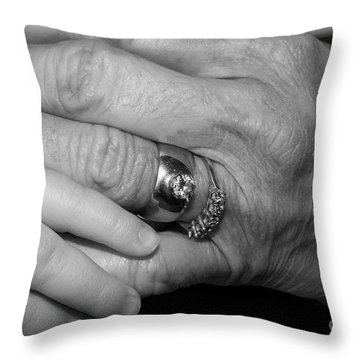 Wise Hands Throw Pillow