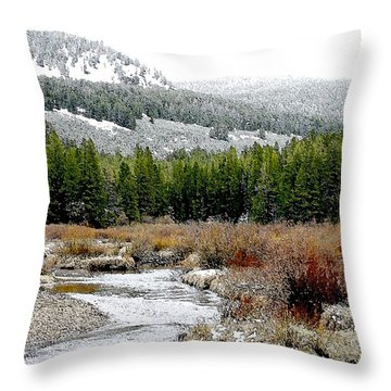 Wise River Montana Throw Pillow