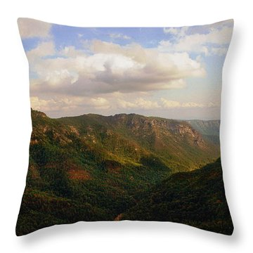 Throw Pillow featuring the photograph Wiseman's View by Jessica Brawley