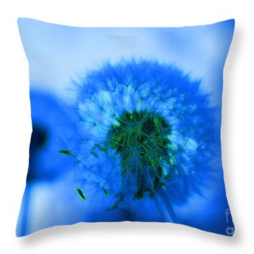 Wish Away The Blues Throw Pillow by Valerie Fuqua