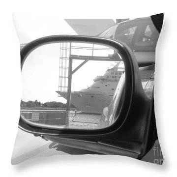 wish I was on that cruise ship... Throw Pillow by WaLdEmAr BoRrErO
