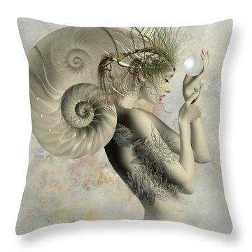 Wish On A Pearl Throw Pillow by Ali Oppy
