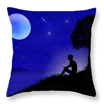 Throw Pillow featuring the digital art Wish You Were Here by Bernd Hau