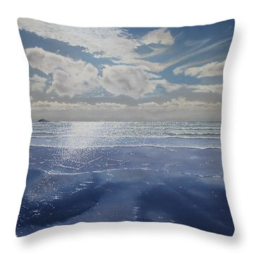 Wish You Were Here Throw Pillow by Paul Newcastle