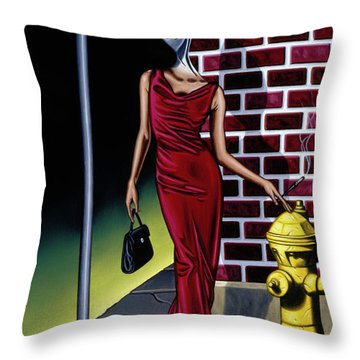 Wishbone Alley Throw Pillow