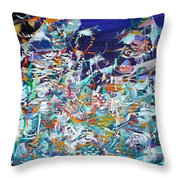 Throw Pillow featuring the painting Wishes by Fabrizio Cassetta