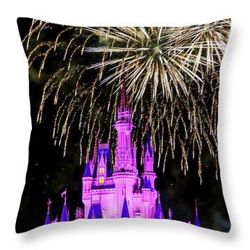 Wishes Fireworks Disney World  Throw Pillow