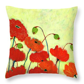 Wishful Blooming Throw Pillow