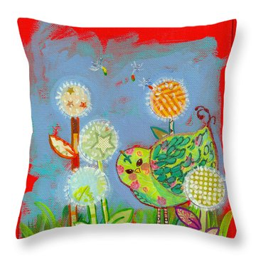 Wishful Thinking Birdy Throw Pillow