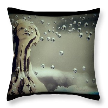 Throw Pillow featuring the digital art Wishful Thinking by Delight Worthyn