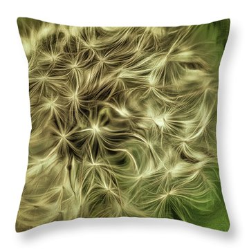 Throw Pillow featuring the mixed media Wishies by Trish Tritz