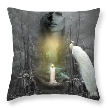 Wishing Candle Throw Pillow