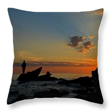 Wishing On A Star Throw Pillow by Dianne Cowen