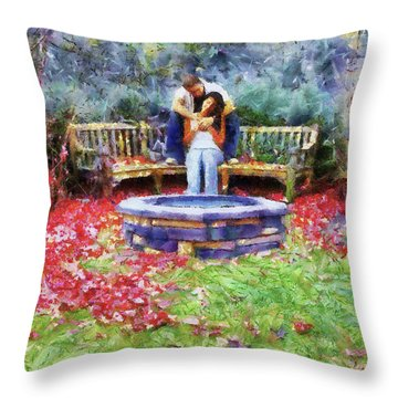 Wishing Pond Throw Pillow by Jai Johnson