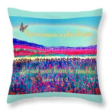 Wishing You The Sunshine Of Tomorrow Bereavement Card Throw Pillow by Kimberlee Baxter