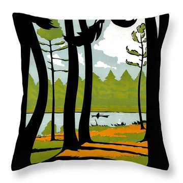 Wisley Gardens Throw Pillow