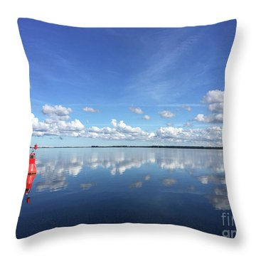 Wismar Bay In Fall Throw Pillow