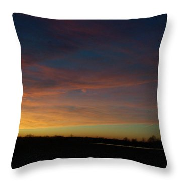Wisp Of Color Throw Pillow