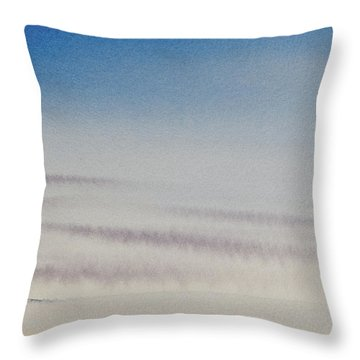 Wisps Of Clouds At Sunset Over A Calm Bay Throw Pillow