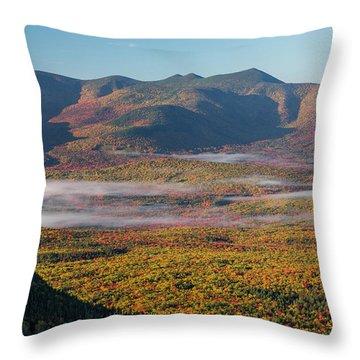 Wispy Autumn Tripyramid Sunrise Throw Pillow