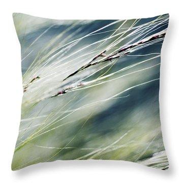 Wispy Grass Throw Pillow by Ray Laskowitz - Printscapes