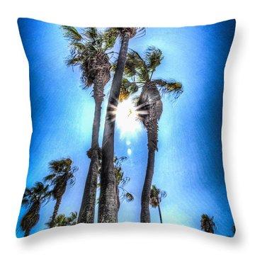 Wispy Palms Throw Pillow