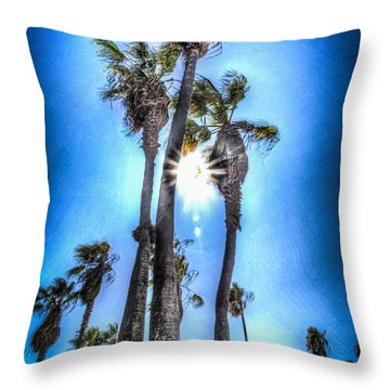Throw Pillow featuring the photograph Wispy Palms by T Brian Jones