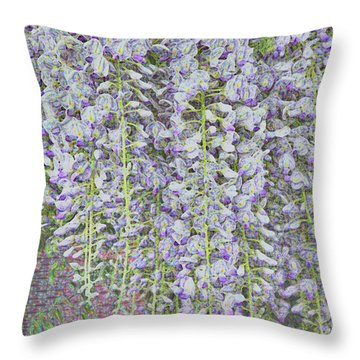 Throw Pillow featuring the photograph Wisteria Before The Hail by Nareeta Martin