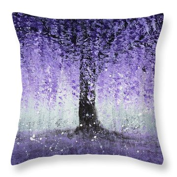 Wisteria Dream Throw Pillow