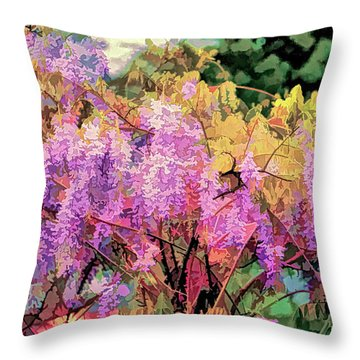 Wisteria In The Spring Throw Pillow
