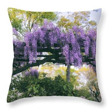 Wisteria Splendor Throw Pillow