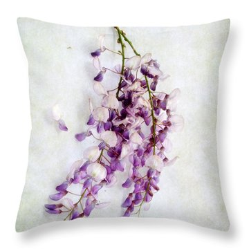 Wisteria Still Life Throw Pillow by Louise Kumpf