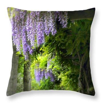 Wisteria Woodland Throw Pillow