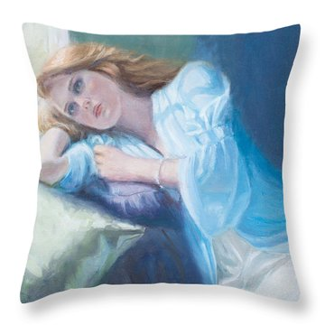 Wistful Throw Pillow by Sarah Parks
