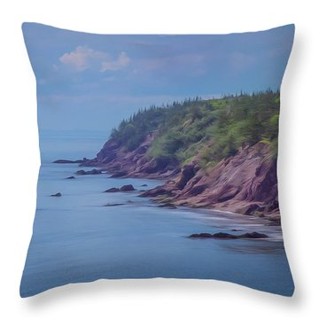 Wistful Songs Of The Ocean Throw Pillow