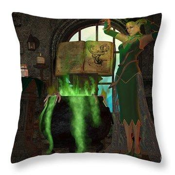 Witch Cauldron Throw Pillow