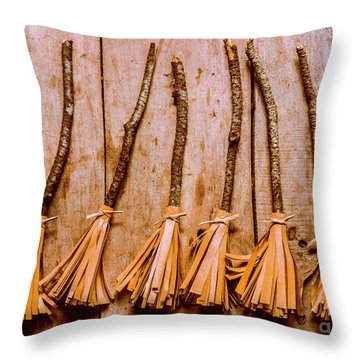 Witchcraft Gathering Throw Pillow
