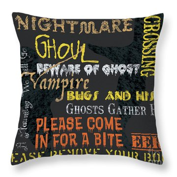 Witchcraft Typography Throw Pillow