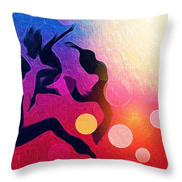 Witches Dance Throw Pillow